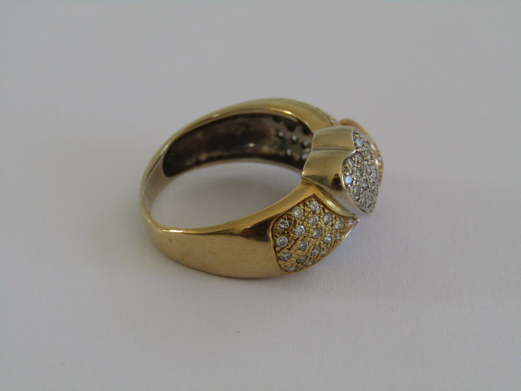 A 18kt gold diamond designer ring