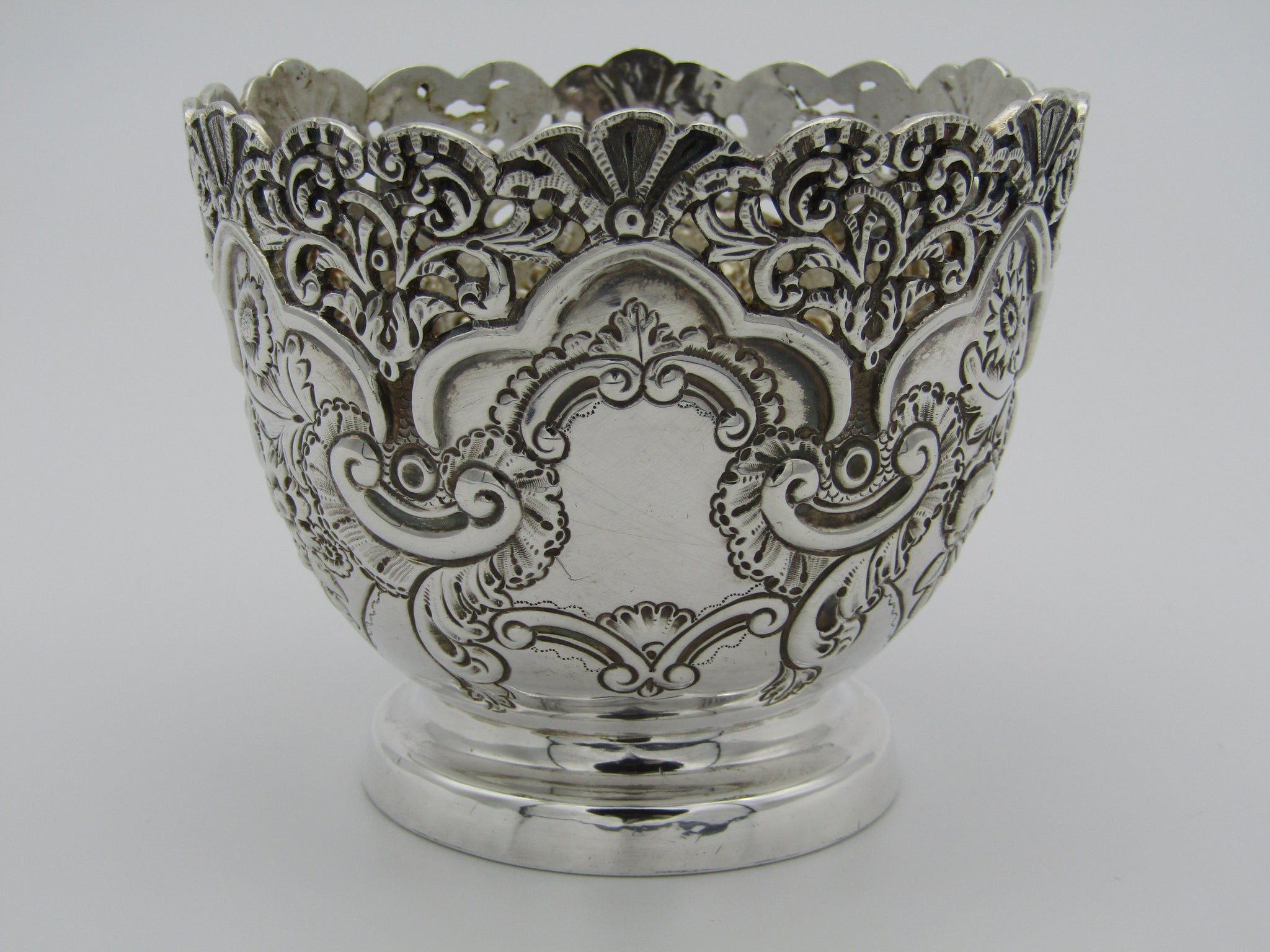 Victorian silver rose bowl by George Moudsley Jackson, London 1895.
