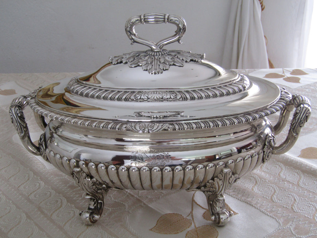 Regency silver soup tureen and cover by John Houle, London 1812.