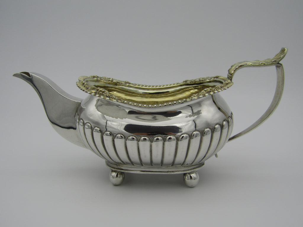 George III silver warm milk jug made by George Hunter II, in London 1817.