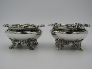 Pair of William IV silver salts, by Edward Jon, John, & William Barnard. London 1835.
