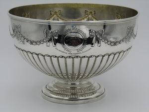 A silver rose bowl by Walter & John Barnard, London, 1894.