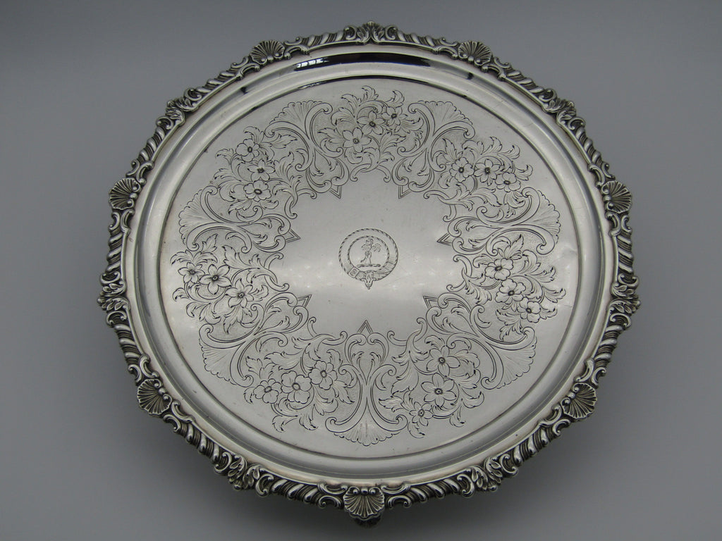 A sterling silver tray by John McKay, Edinburgh, 1811.