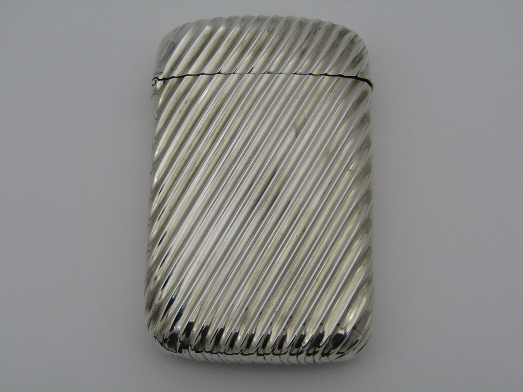 Silver card case by Deakin and Francis, Birmingham, 1890.
