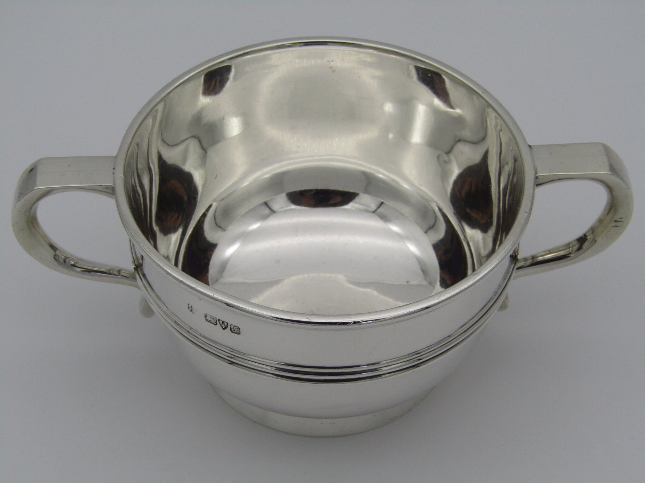 Silver quaich by Barker Brothers, Chester 1909.