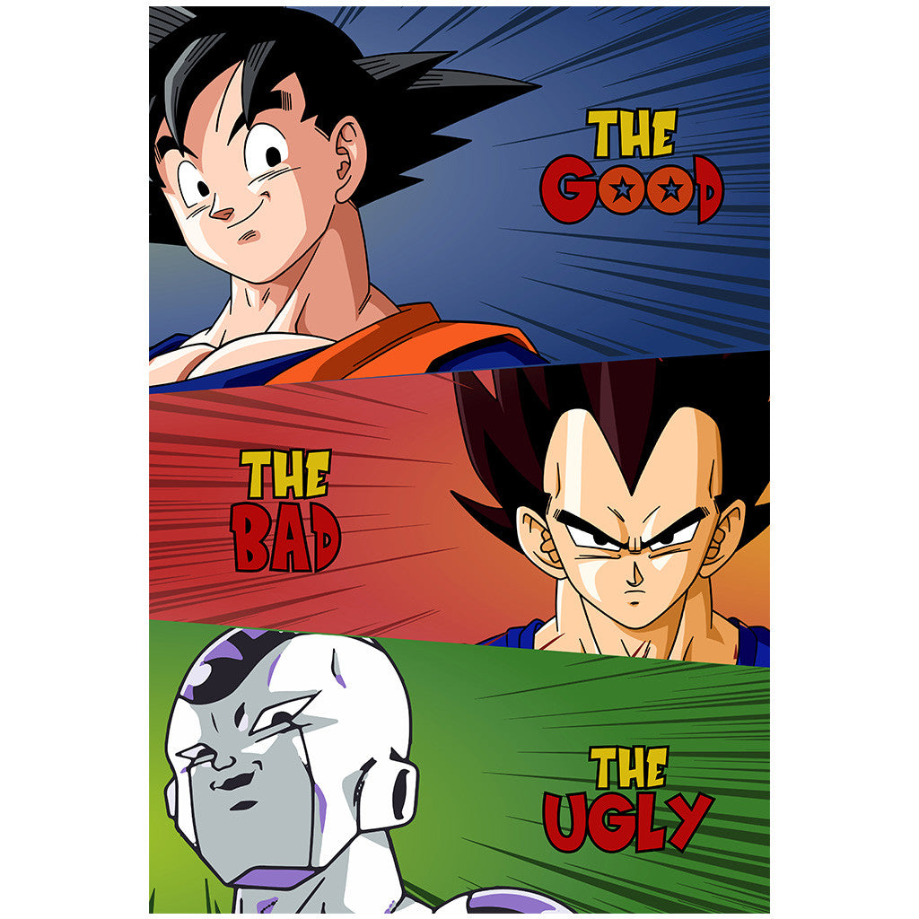 The Good The Bad The Ugly - Dragon Ball Z Poster
