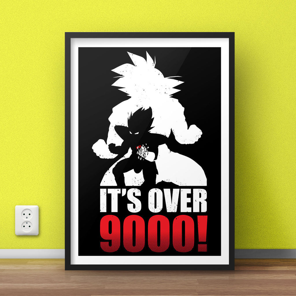 Over 9000- Dragon Ball Z Poster