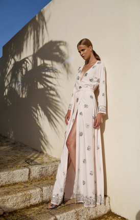 Serena Wrap Dress | Maxi