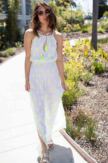 Gia Dress | Chartreuse