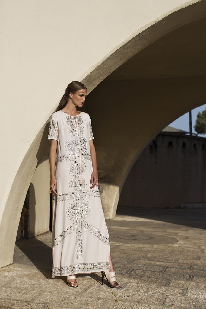 Long Slim Caftan Dress
