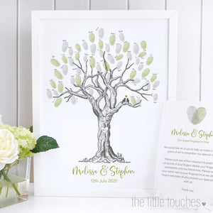 Fingerprint Trees - A great alternative to a traditional guest book