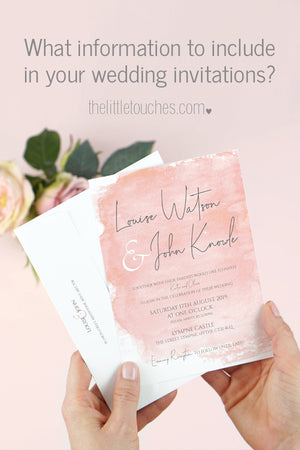 What to include in your wedding invitations