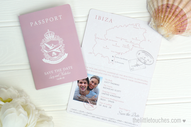 Passport destination wedding Save the date