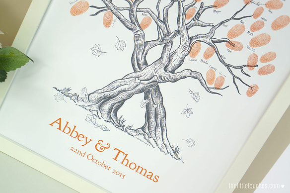 Autumn Leaves Guest Fingerprint Tree