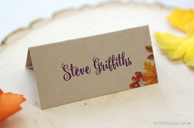 Autumn Leaves Place Setting