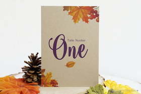 Autumn Leaves Table Numbers