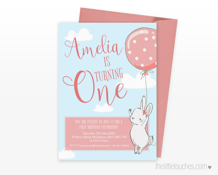 Birthday Bunny Printable Party Invitation