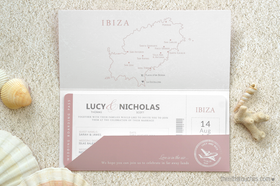 Boarding Pass Destination Wedding Invitations