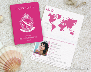 Bridal Shower Hen Party Passport Invitation template
