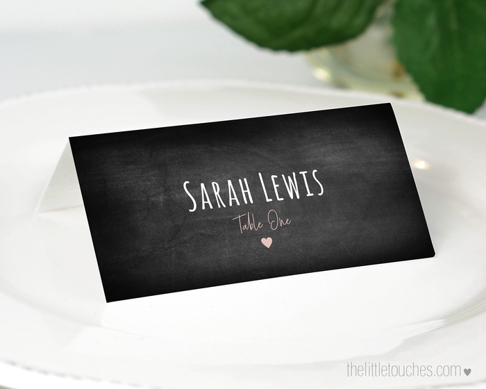 Chalkboard Printable Place Settings