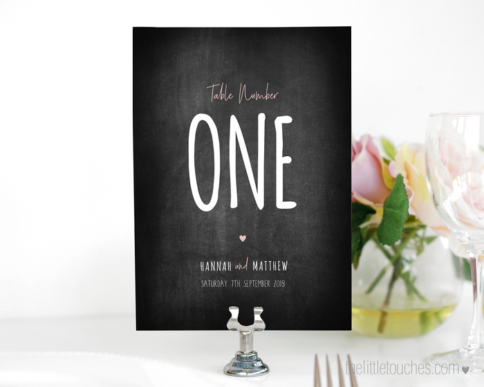 Chalkboard Theme Printable Table Numbers