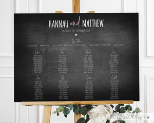 chalkboard table plan template
