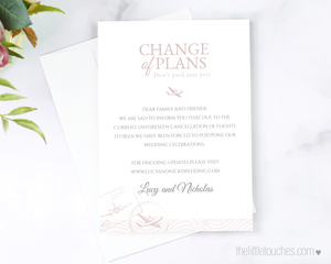 Destination Wedding Change of Plan Announcement