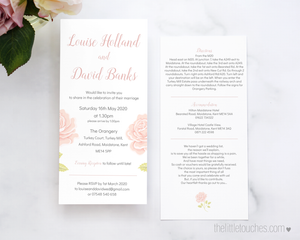 Vintage Rose Design printable wedding invitation template