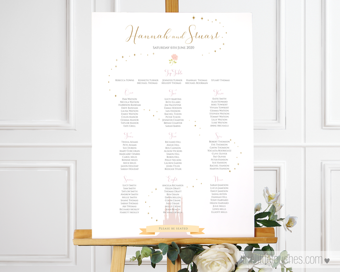 Fairytale Castle Printable Wedding Table Plan