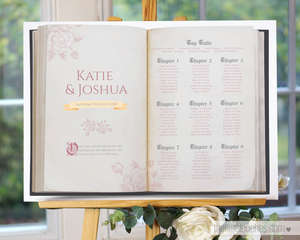 Fairy Tale book themed Wedding Table Plan template