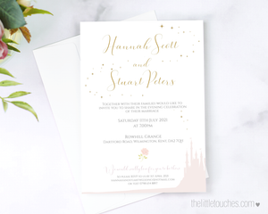 Fairytale wedding invitation template