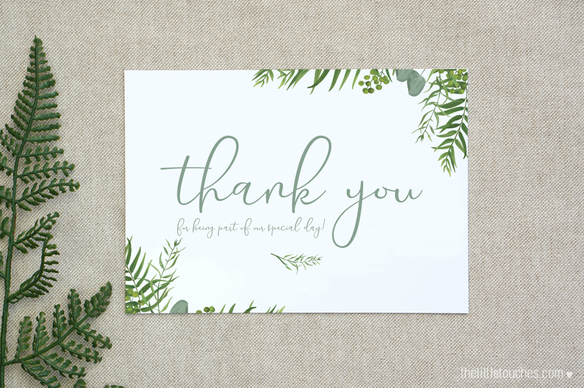 Forest Leaves Thank You Card