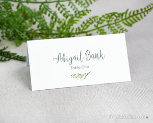 forest leaves printable place setting template