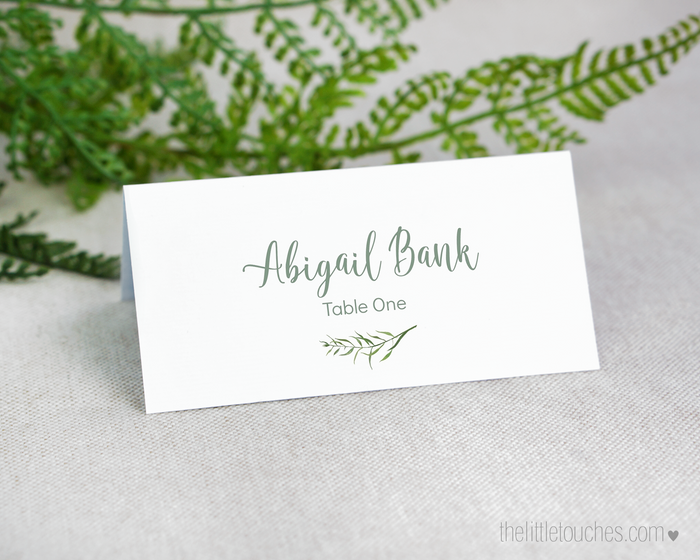 Forest Leaves Printable Place Settings