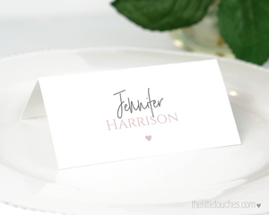Simple Heart Printable Place Settings
