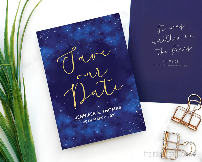 Night Sky Printable Save the Date Cards