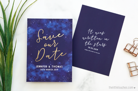 Night Sky Save the Date Cards