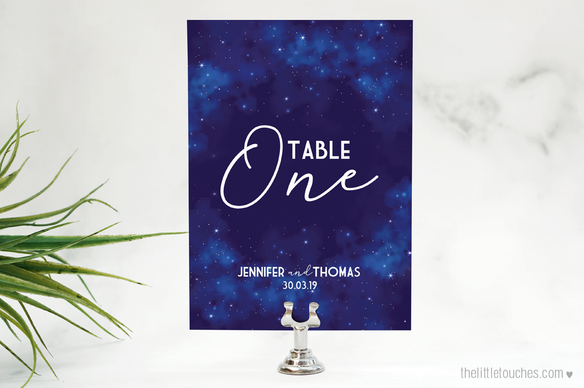 Night Sky Table Numbers