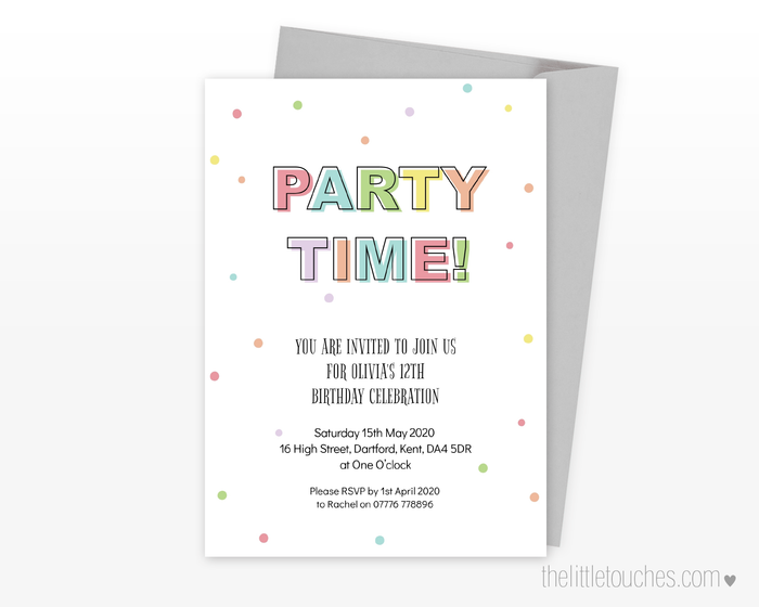 Party Time! Printable Invitation