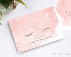blush pink save the date printable template