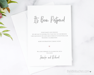 Simple Heart Printable Postponed Card