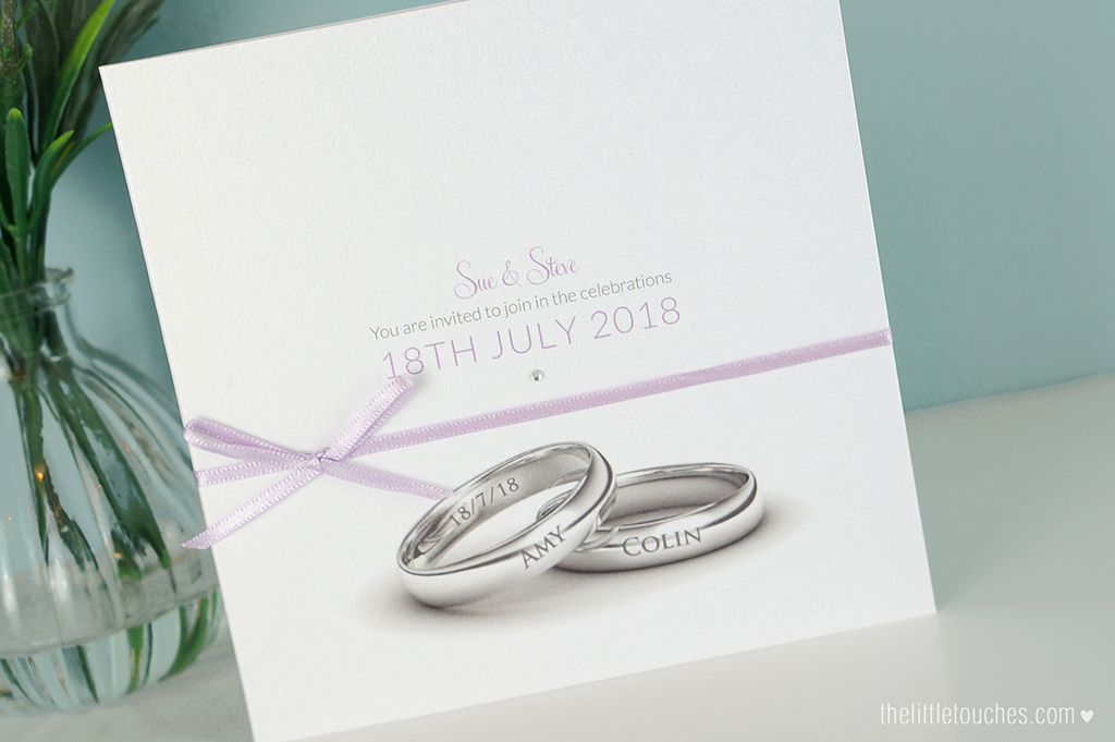 Wedding Ring Invitations with Side Pocket The Little Touches