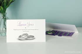 Wedding Rings Scratch Card Place Settings