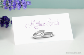 Wedding Rings Place Setting