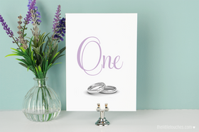 Wedding Rings Table Numbers