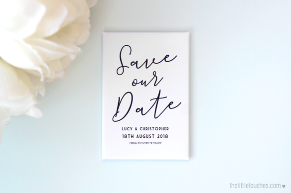 Monochrome Save the Date Magnets