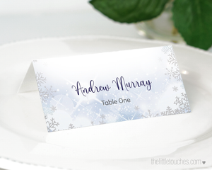 Winter Snowflake Printable Place Settings