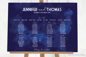 Night Sky Table Plan