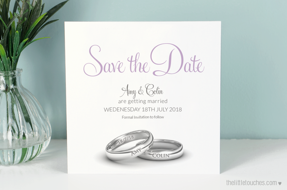 Wedding Ring Save the Date Cards
