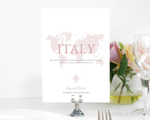 Where in the World Printable Travel Table Names